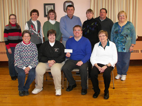 Upper Sandusky High School Music Department receiving donation
