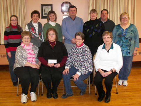 Wyandot County Council for Birth Defects receiving donation